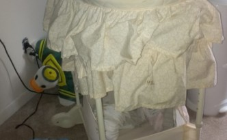 Neighbor's pee-resistant bassinet