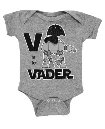 Baby Darth Vader riding an AT-AT