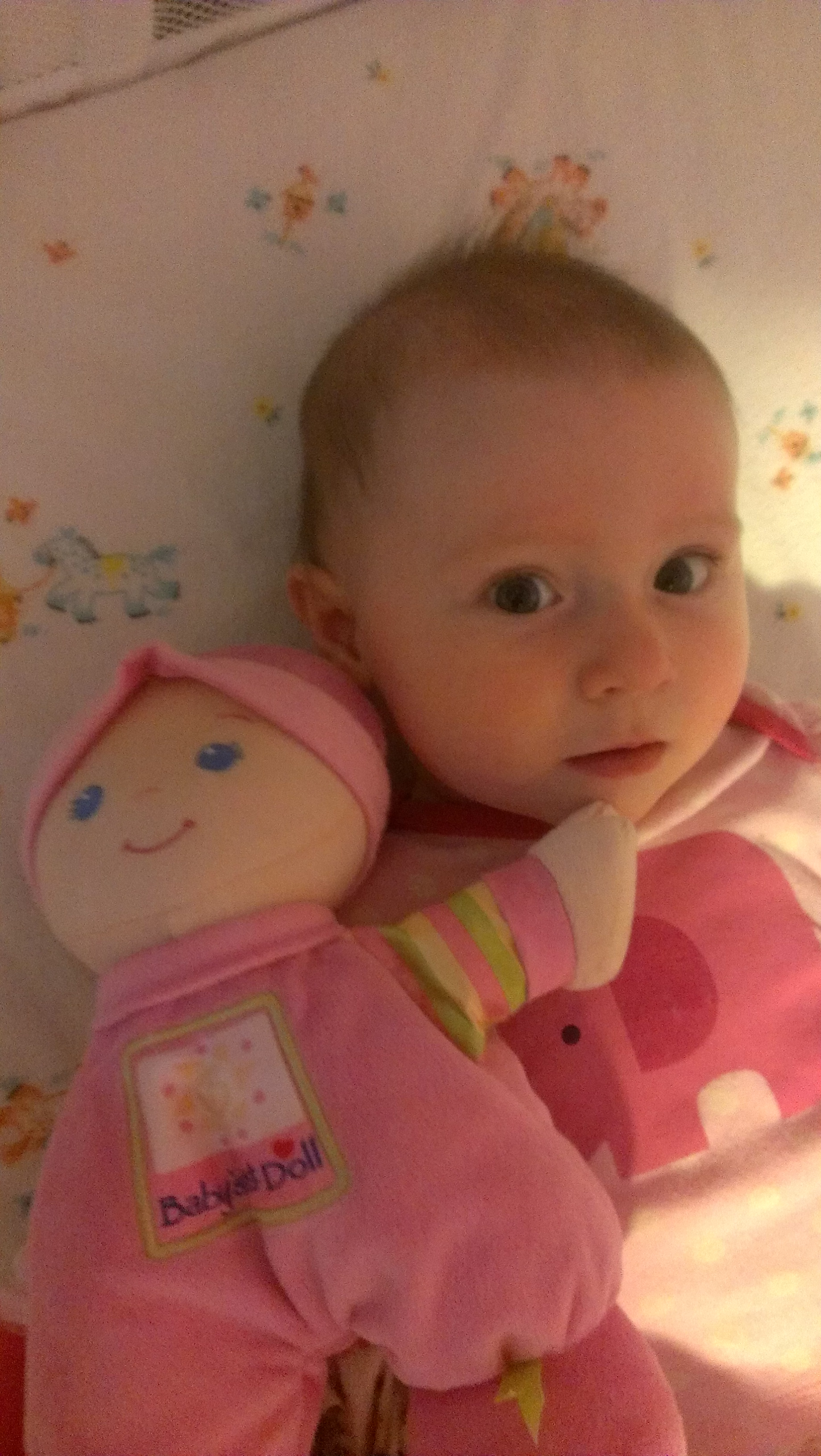 Maggie with Baby's 1st Doll