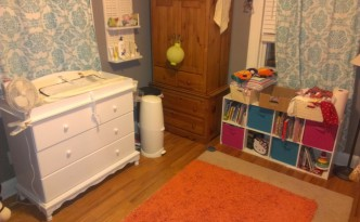 Maggie's new changing table