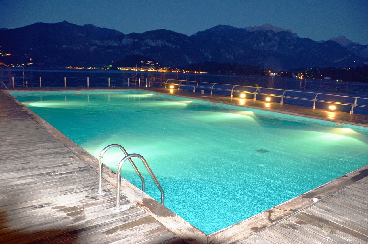 Swimming Pool from http://pixabay.com/en/swimming-pool-pool-water-lights-55736/