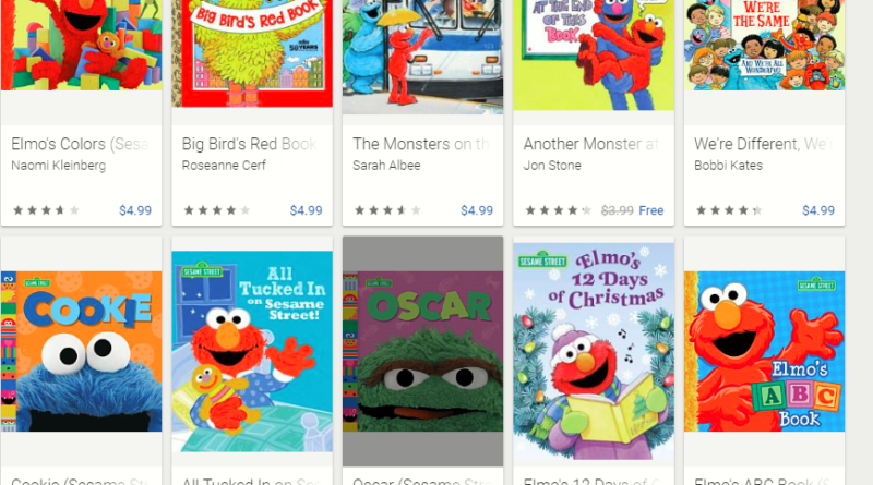 Google Play Sesame Street books